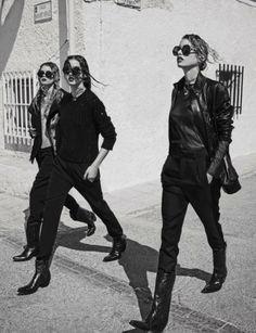 Gabby Westbrook-Patrick, Morgane Warnier & Stella Maxwell for #Vogue Spain August 2014