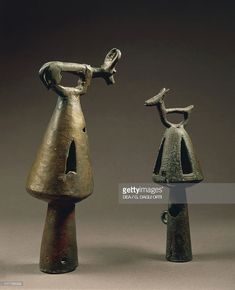 Stock Photo : Ornamental bells, from Somhid e Gornesti Iron Age, Prehistory, Ancient History, Romania, Archaeology, Civilization, Decorative Bells, Europe, Culture