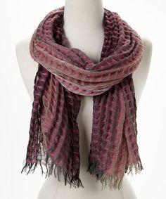 Pink & Gray Square Texture Scarf #zulily #zulilyfinds
