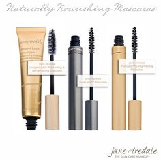 jane iredale mascaras www.janeiredale.com.au The middle one is my favourite. No petroleum products and perfect for sensitive eyes.