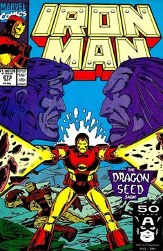 Cover for Iron Man October 1991 Marvel Iron Man Comic Books, Best Comic Books, Comic Books Art, Comic Art, Comic Poster, Book Art, Marvel Comics Superheroes, Marvel Comic Books, Marvel Heroes