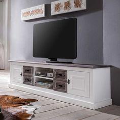 TV-Lowboard im Landhausstil 180 cm breit Jetzt bestellen unter: https://moebel.ladendirekt.de/wohnzimmer/tv-hifi-moebel/tv-lowboards/?uid=a4c78439-33fb-5b81-88a3-e38ac3d4386b&utm_source=pinterest&utm_medium=pin&utm_campaign=boards #fernsehmöbel #rack #phonoschrank #tvboard #fernsehunterschrank #tische #tvhifimoebel #lowboard #schrank #fernsehtisch #unterschrank #möbel #phonomöbel #bank #fernseher #fer #tvtische #sideboard #tvlowboards #fernsehschrank #wohnzimmer #kommode