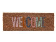 Wycieraczka Present Time Welcome Multi Welcome Door Mats, Tapis Design, Coir Doormat, Textiles, Fibres, Online Gifts, Floor Rugs, Discount Designer, Bunt