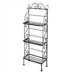 """Grace Baker's Rack Finish: Aged Iron, Brass Tips: Without Brass Tips, Size: 52"""" H x 18"""" W"""