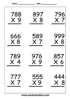 math worksheet : multiplication multiplication problems and worksheets on pinterest : 1 Digit Multiplication Worksheets