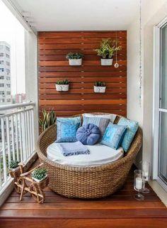 balkonmöbel rattan sessel balkongestaltung holz