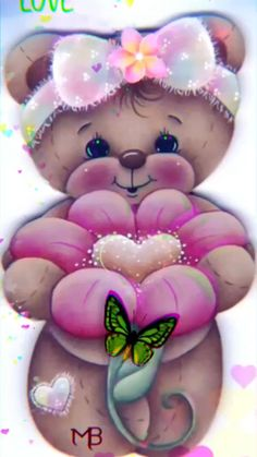 Good Morning Beautiful Flowers, Good Morning Images Flowers, Baby Teddy Bear, Cute Teddy Bears, Fairy Pictures, Cute Pictures, Thinking Of You Images, Hugs And Kisses Quotes, Birthday Qoutes