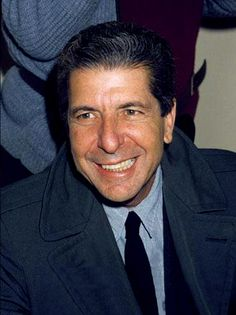 This photo has sparked the consideration of adding a new category to the Leonard Cohen photo series at DrHGuy: Smiles Of Leonard Cohen