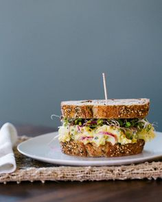 Radish and Egg Salad Sandwiches {in Our Kitchen}