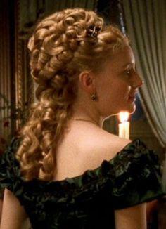 Romola Garai as Gwendolen Harleth in Daniel Deronda TV Mini Historical Hairstyles, Medieval Hairstyles, Victorian Hairstyles, Vintage Hairstyles, Ball Hairstyles, Goddess Hairstyles, Braided Hairstyles, Wedding Hairstyles, Victorian Costume