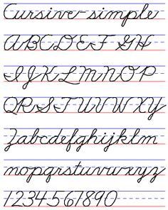 Examples Of Handwriting Styles