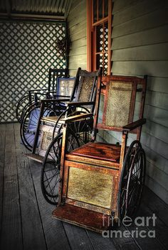 Antique Wheelchairs>>> See it. Believe it. Do it. Watch thousands of spinal cord injury videos at SPINALpedia.com