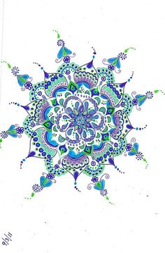 mandala- a beautiful tattoo! £o¥€ the colors! #Mandala#pattern