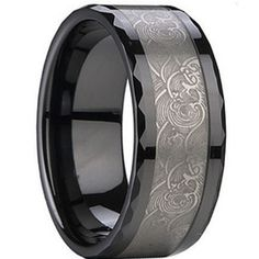 COI Tungsten Carbide Ring With Black Plating - TG873A