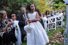 Flower girl at Prudence's Elm Bank wedding, what a great day in a great location.