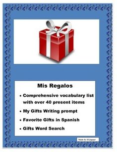 #fallwinterspanishsaleThis wonderful interactive lesson plan will allow you to have a fun  activity after the Winter break in Spanish. Students have received their presents for Christmas Chanukah or Kwanzaa. Students will go through the list and write down the presents they received.