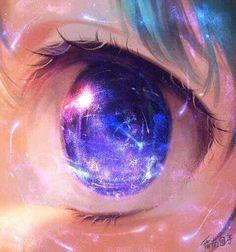 Beautiful anime eye