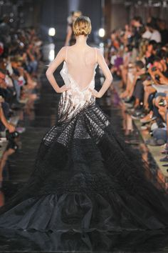 ZsaZsa Bellagio, John Galliano, haute couture, couture, fashion, catwalk, runway, designer