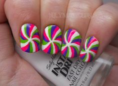 Holy Manicures: Funky Swirl Nails. (for me maybe I'll do just one on each hand like this)
