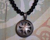 Essential Oil Jewelry & Aromatherapy Diffuser Locket Necklace, Black Onyx, Handmade