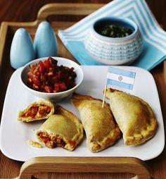 Argentinian Chicken Empanadas - get recipe here: http://www.dailymail.co.uk/femail/food/article-1285907/World-Cup-recipe-Argentinian-chicken-empanadas.html