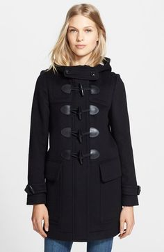 Burberry+Brit+'Finsdale'+Wool+Duffle+Coat+available+at+#Nordstrom