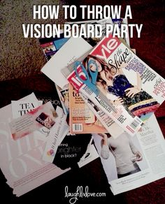 How to throw a vision board party in the new year