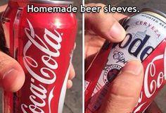 home made beer sleeves