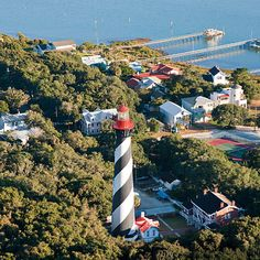 *The St. Augustine Lighthouse*, a landmark along this scenic Florida road trip.    |Photo by ~Gary Clark~|   {Source: Southern Living.com}