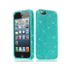 Snap-On Blue Full Diamond Case for Apple iPhone 5  ($4.84)
