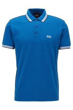 BOSS - Polo regular fit con tapeta de 3 botones Hugo Boss, Polo Shirt Design, Collar And Cuff, Shirt Designs, Polo Ralph Lauren, Menswear, Shirts, Fitness, Mens Tops