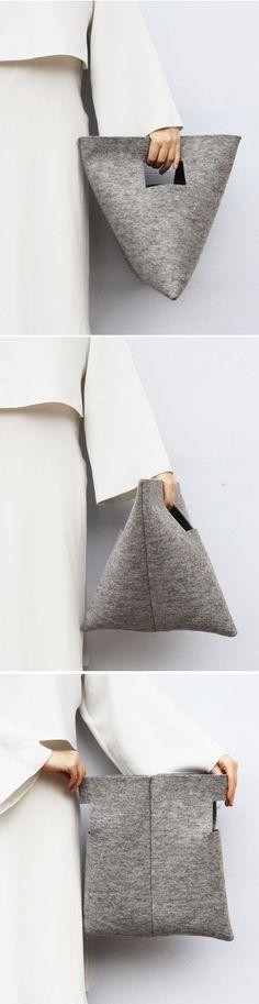DIY :: M Bag | by IF irinaflorea | minimalist | felt ♥ Diese und weitere Taschen auf www.designertaschen-shops.de entdecken