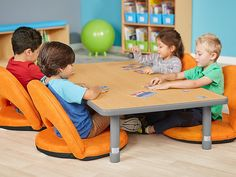 Top-quality classroom furniture—from traditional chairs & tables to mobile desks & other flexible seating options! Daycare Design, Classroom Design, Infant Room Daycare, Home Daycare Rooms, Preschool Tables, Kindergarten Tables, Kindergarten Design, Classroom Furniture, Minecraft Furniture