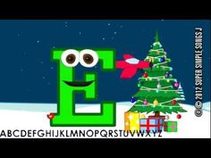 Happy New Year 2013! This is Holiday greetings card to learn Alphabet, Letter E and colors green, blue, red, white. Please visit our channel home for exclusive Children's songs playlists and a selection of noteworthy channels for children. Christmas for children and ABC songs for children from Super Simple Songs Journal.