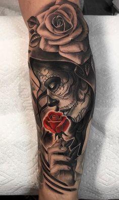 120 Tattoos on the arm - Photos and Tattoos- 120 Tatuagens masculinas no braço – Fotos e Tatuagens 120 Tattoos on the arm – Photos and Tattoos – – - Skull Rose Tattoos, Skull Girl Tattoo, Skull Sleeve Tattoos, Forearm Sleeve Tattoos, Best Sleeve Tattoos, Tattoo Sleeve Designs, Dope Tattoos, Badass Tattoos, Arm Tattoos For Guys