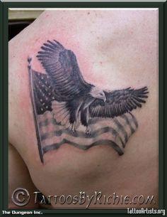 eagle tattoo designs   Eagle and Flag Tattoo - Tattoo Artists.org