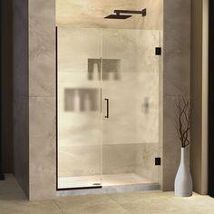"""DreamLine UniDoor Plus 30.5"""" x 72"""" Hinged Shower Door with Hardware Trim Finish:"""