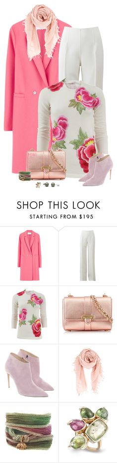 """""""Winter White and Pink"""" by sherry7411 on Polyvore featuring Harris Wharf London, Michael Kors, Naeem Khan, Aspinal of London, Ralph Lauren, Chan Luu and Catherine Michiels"""