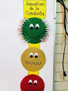 semáforo de la conducta. Para trabajar el comportamiento en una clase de educación infantil.