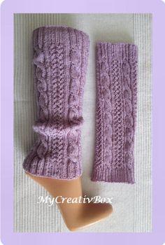 """Beinstulpen """"Bailys"""" -14J. - Erwachsene - Strickanleitung Knitted Boot Cuffs, Knit Leg Warmers, Knit Boots, Mittens Pattern, Fingerless Gloves, Needlework, Knit Crochet, Crochet Patterns, Stockings"""