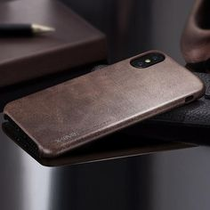 phone accessories Leather Case For IPhone X X-Level Original Luxury Shockproof Cover Bus modlilj Iphone 8 Plus, Iphone 7, Iphone Cases, Apple Iphone 6, Vintage Phone Case, Leather Phone Case, Color Dorado, Iphone Accessories, Leather Accessories