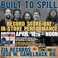 Hallelujah! Built to Spill is playing at Zia Records for Record Store Day!