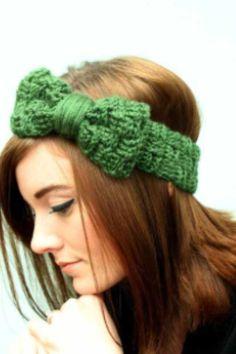 39aea0833f1 Handmade Knit Cable Headband Dark Gray Knitted Headband Hand knit ...