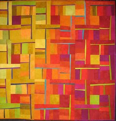 Caliente  Made by Cory Volkert of Normandy Park, Washington; shown in the judged show (category: Art-Abstract, Small) at the 2006 Houston International Quilt Festival.