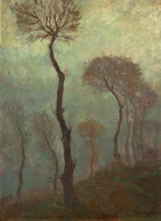Karel Nejedlý (Czech, 1873-1927), A Study of Trees. Oil on cardboard, 65 x 48 cm.