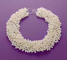 This lustrous torsade necklace is a customer favorite, and it's easy to see why. Clustered with multiple twisty strands of gleaming white cultured freshwa… Chunky Jewelry, Pearl Jewelry, Beaded Jewelry, Jewelery, Beaded Necklace, Pearl Necklace, Pearl Love, Pearl Set, Pearl Chain
