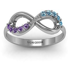 Birthstone Infinity Accent Ring | Jewlr