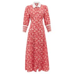 Kate Middleton wearing the Beulah London Calla dress in rose red floral Floral Shirt Dress, Red Midi Dress, Rose Dress, Silk Dress, Silk Skirt, Vestidos Kate Middleton, Kate Middleton Dress, Beulah London, Rose Shirts