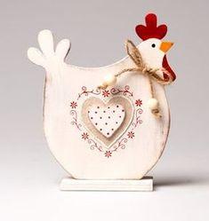 Figurine poule en bois