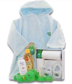 Spa gift basket for baby-to-be obviously with our new Baby gift set & towel :)